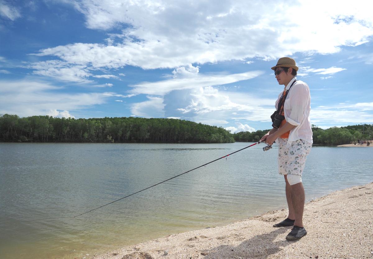釣り人がたくさん、とは言ってもこんな感じ