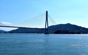 生口島と大三島を結ぶ全長約1.5kmの多々羅大橋