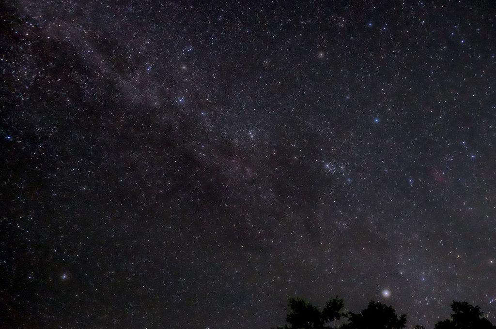 こんな星空が見えますよ。流れ星びゅんびゅん。