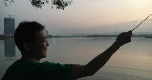 マレーシアで語学学校と空手の先生をされていた向田さん。今回の水先案内人