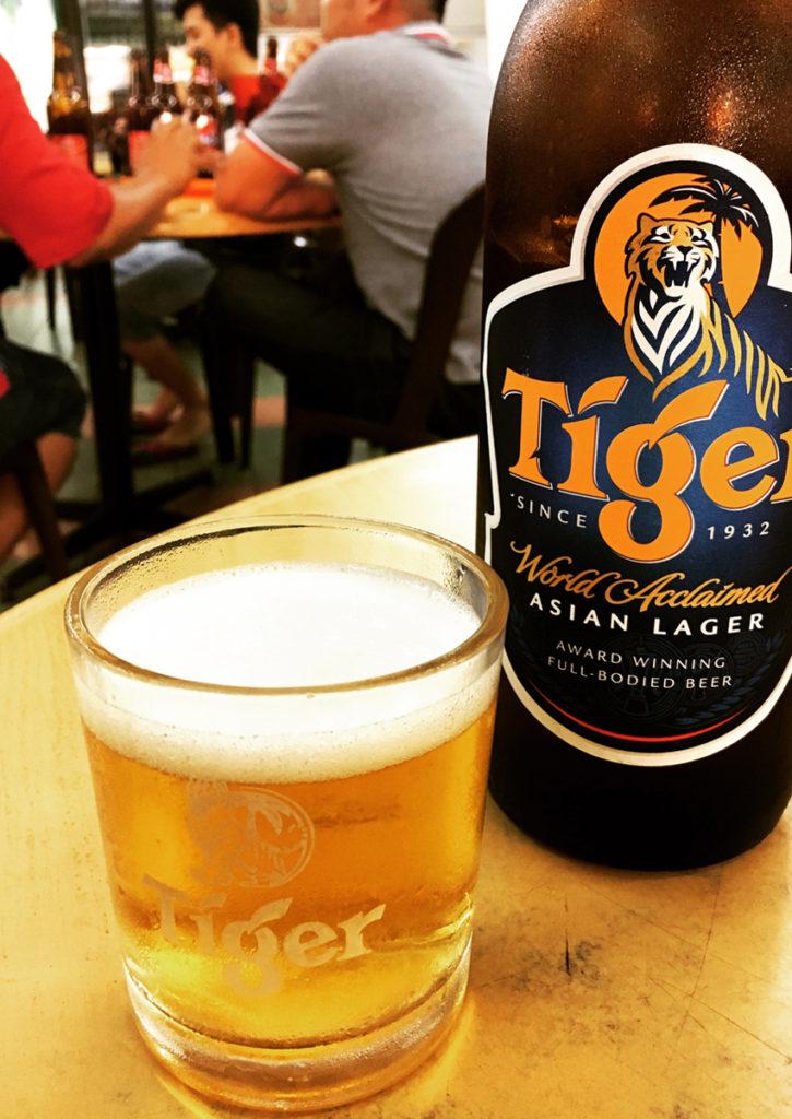 一日の締め。ビールはタイガー♪