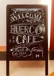 大阪デザイナー専門学校を今年卒業する学生さんによる「HuercoCafe WelcomeBoard」