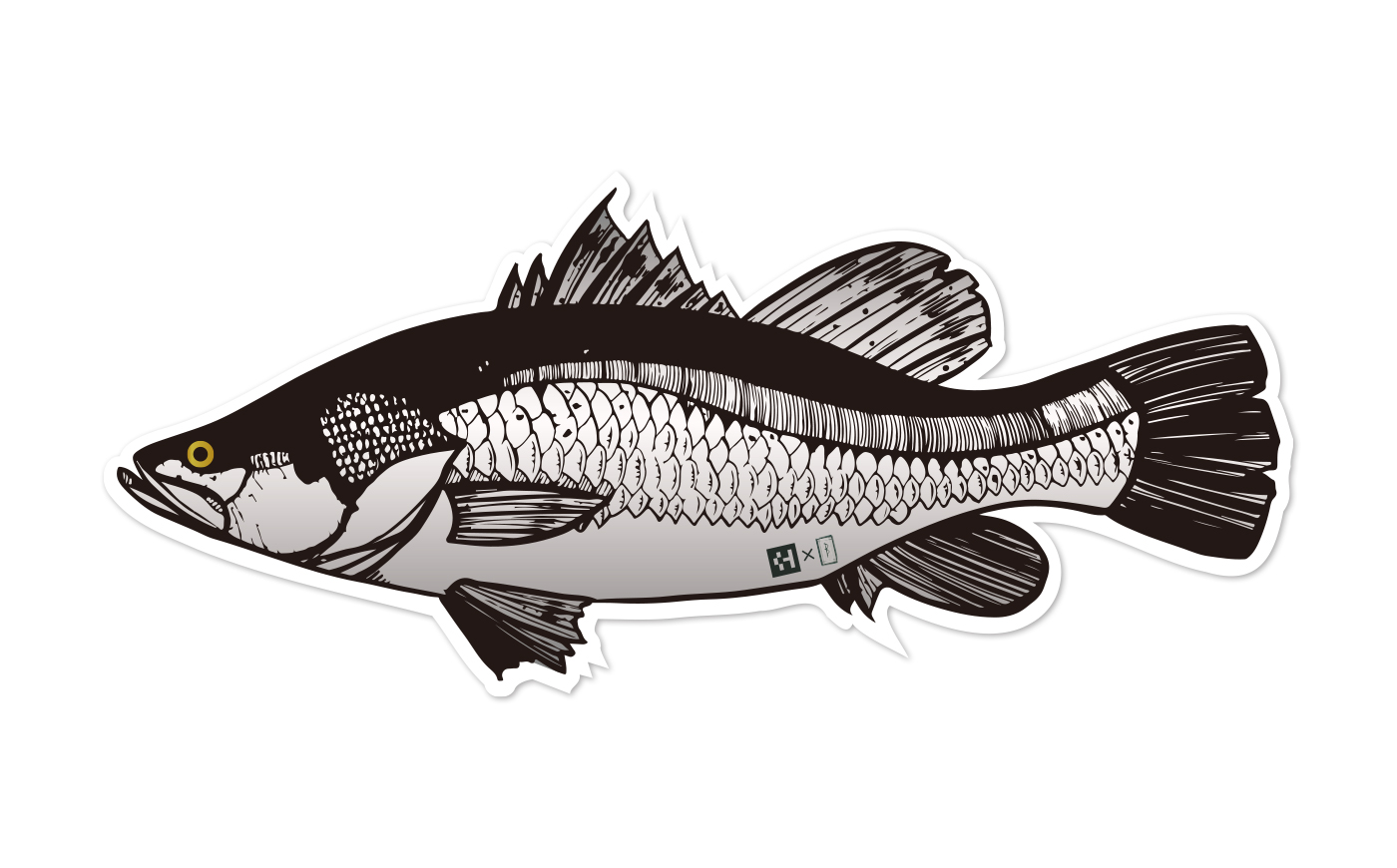 Fish Sticker バラマンディ