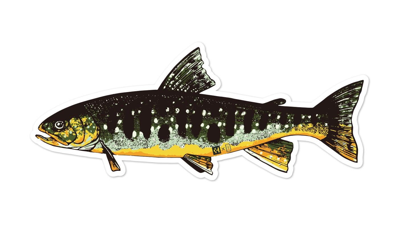 Fish Sticker イワナ