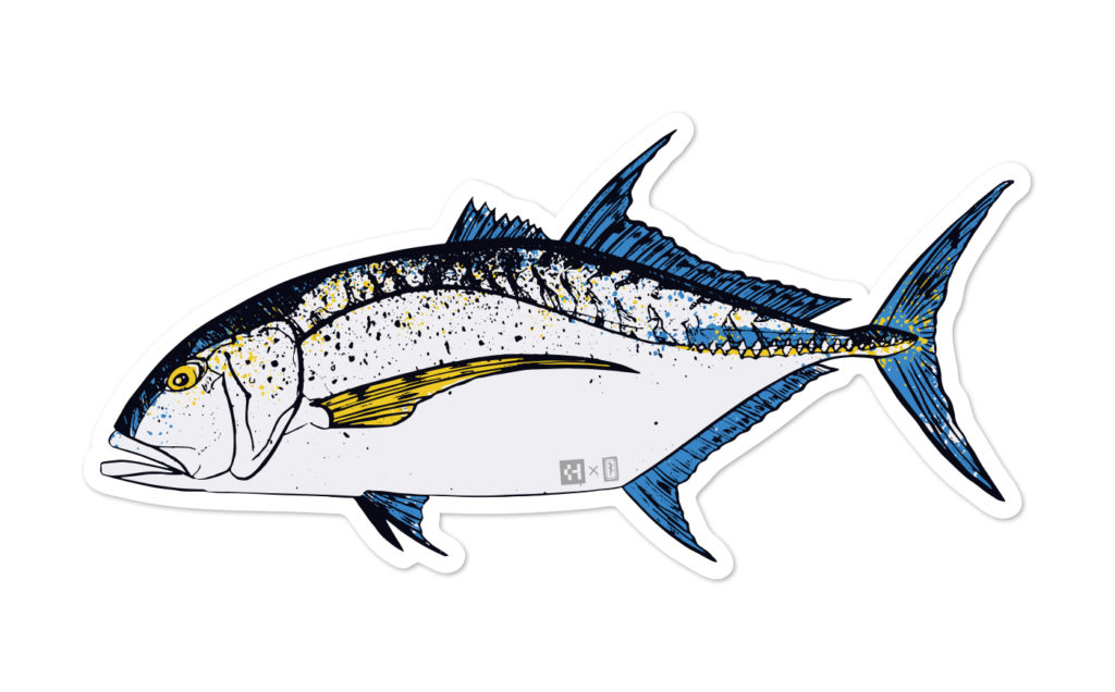 Fish Sticker カスミアジ