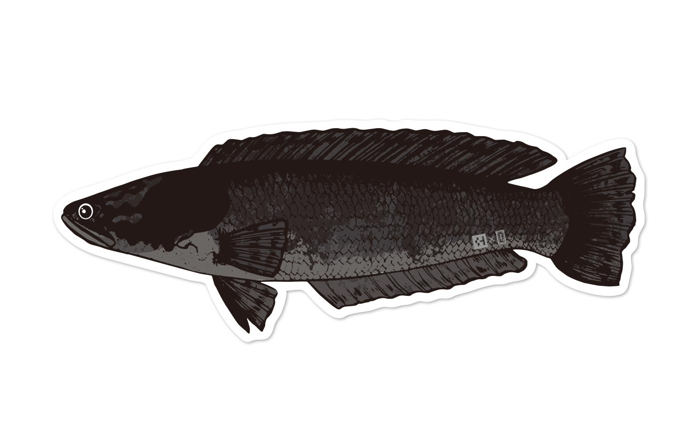 Fish Sticker ブラックトーマン
