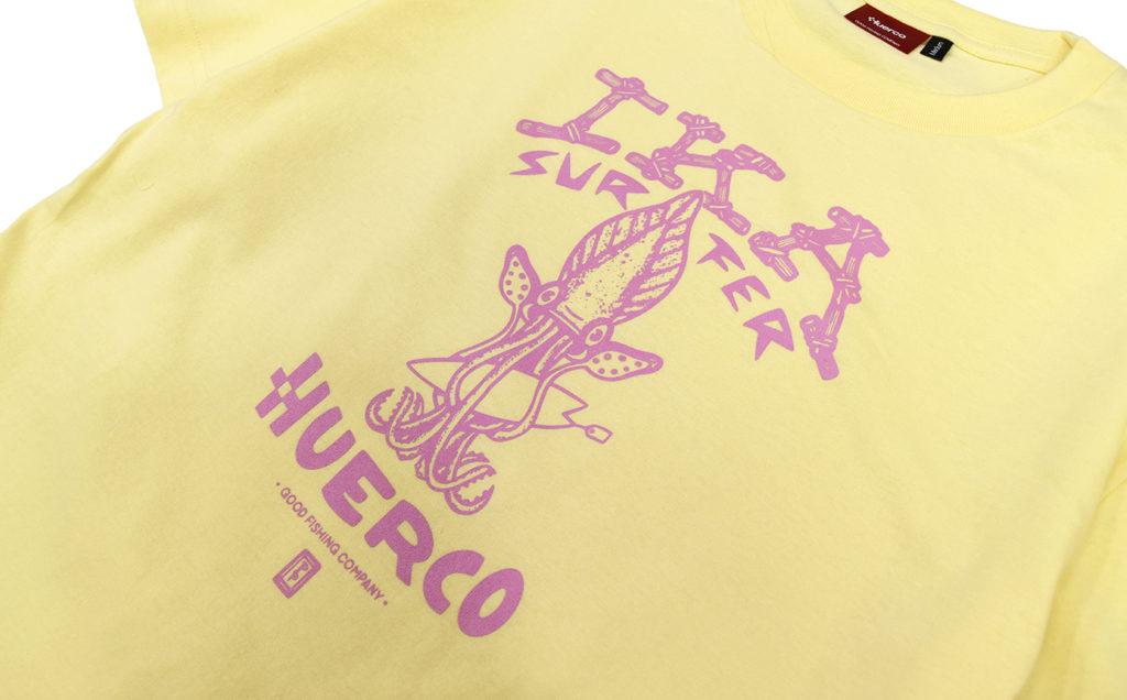 Huerco イカサーファーTシャツ