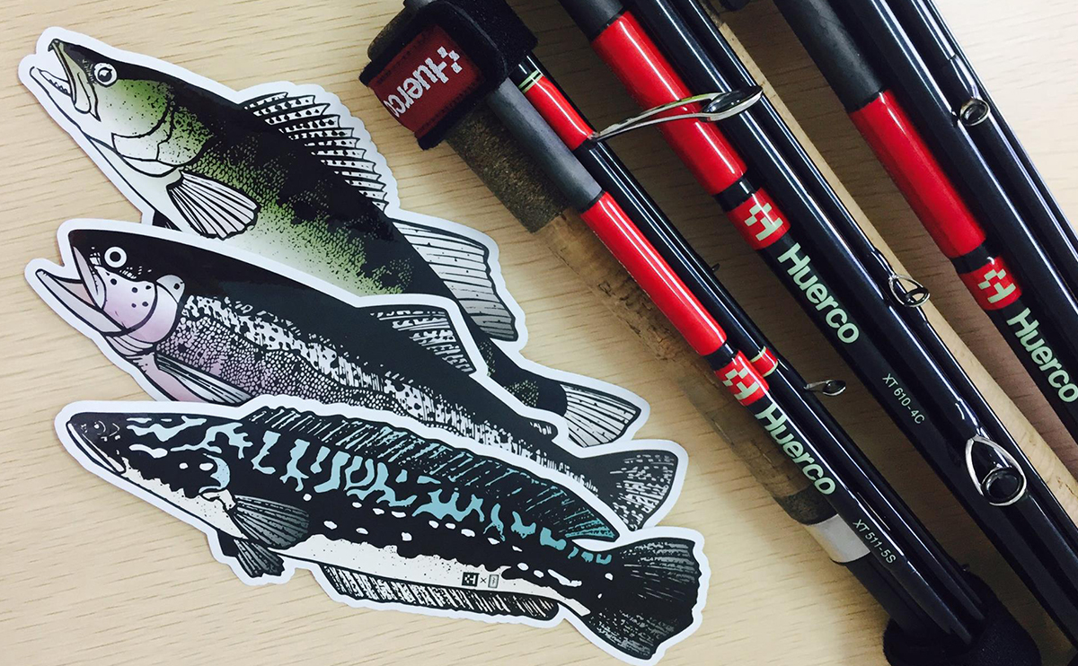 Huerco Fish Sticker – Giant Snakehead